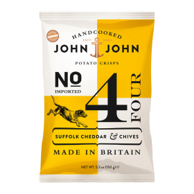 John & John Premium Chips Nr 4 Cheddar and Chives ~ Beutel a 150 g