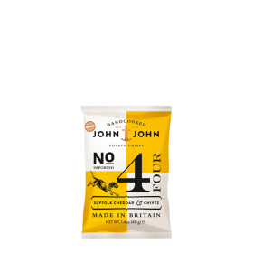 John & John Premium Chips Nr 4 Cheddar and Chives ~ Beutel a 40 g