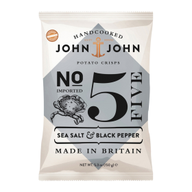 John & John Premium Chips Nr 5 Sea Salt and Pepper ~ Beutel a 150 g