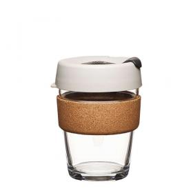 Keep Cup aus Glas (Filter Cork Edition) ~ 1 Becher mit Deckel 12 oz