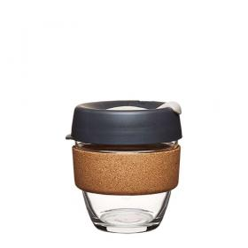 Keep Cup aus Glas (Press Cork Edition) ~ 1 Becher mit Deckel 8 oz