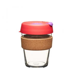 Keep Cup aus Glas (Sumac Cork Edition) ~ 1 Becher mit Deckel 12 oz
