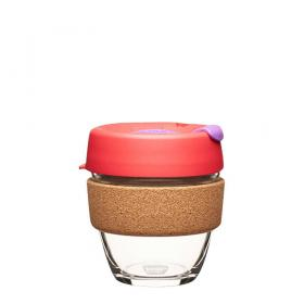 Keep Cup aus Glas (Sumac Cork Edition) ~ 1 Becher mit Deckel 8 oz