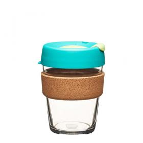 Keep Cup aus Glas (Thyme Cork Edition) ~ 1 Becher mit Deckel 12 oz